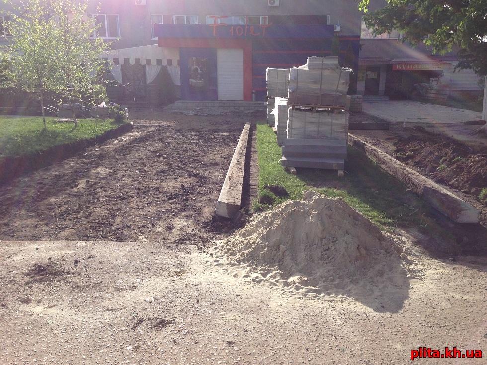 подготовка под плитку тротуарную