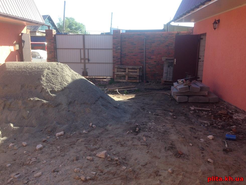 подготовка тротуарная плитка старый город Мерефа