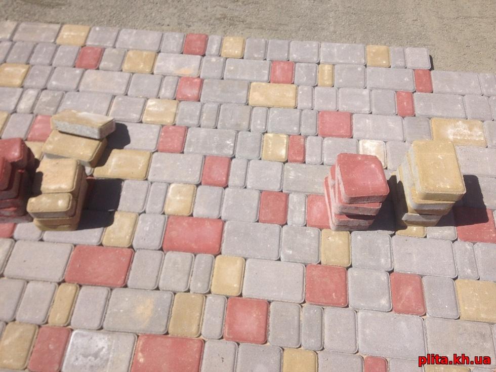 нечало укладки тротуарная плитка старый город Мерефа